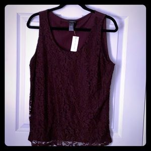 NWT Ann Taylor Factory Lace Top